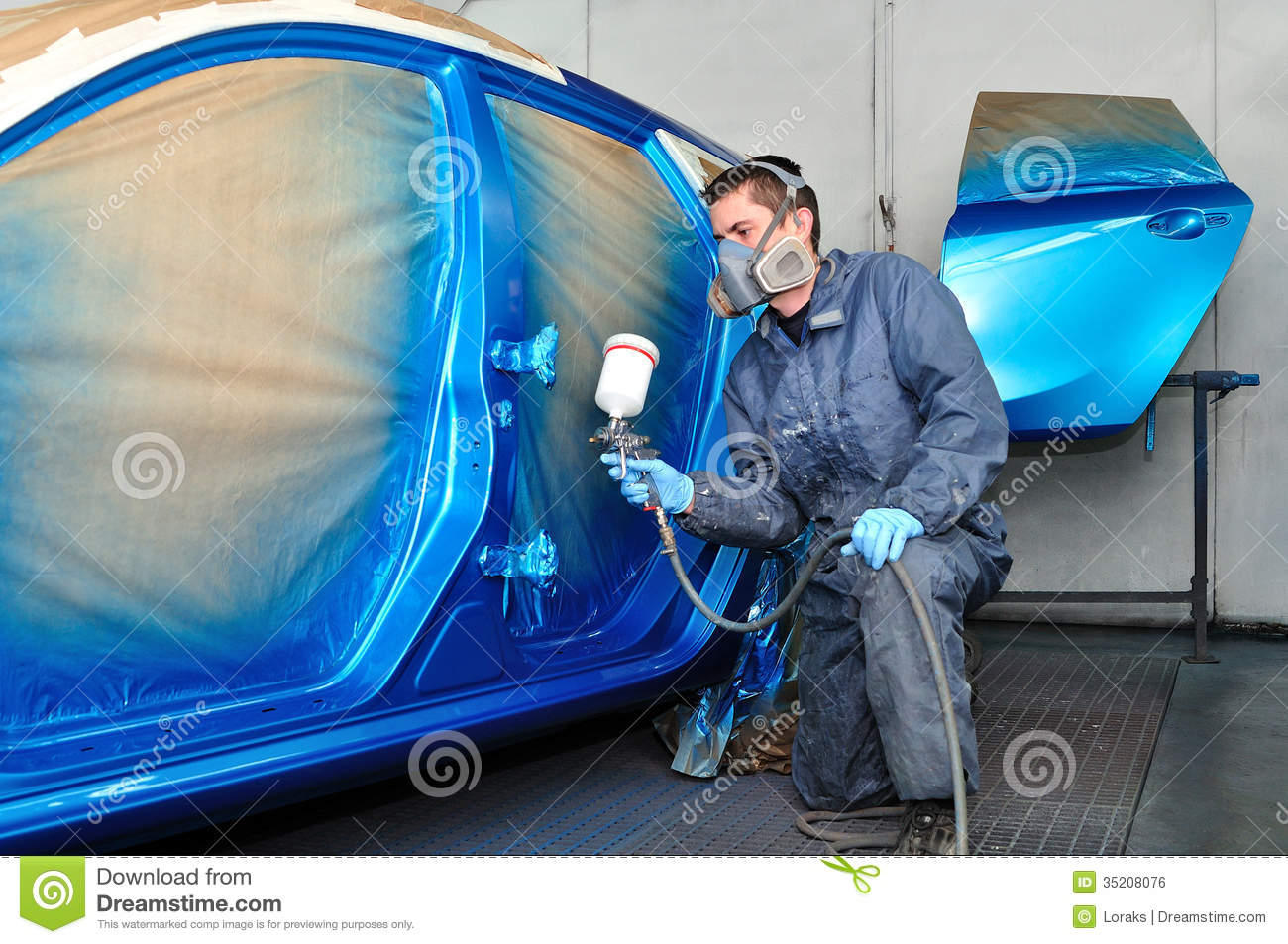Profesional Car Painter. Royalty Free Stock Image - Image ...