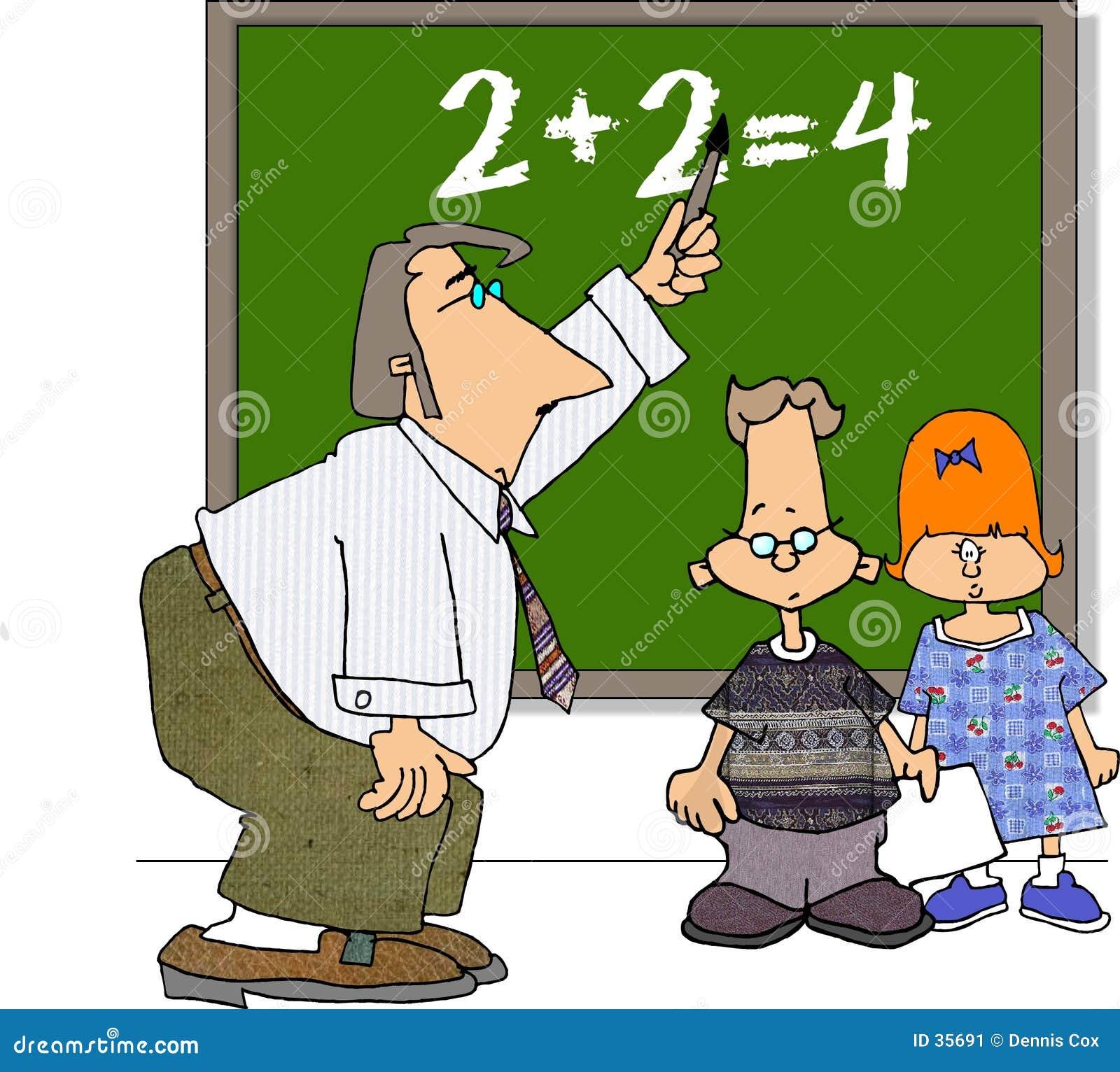 Download Profesor y dos estudiantes stock de ilustración. Ilustración de muchacho - 35691