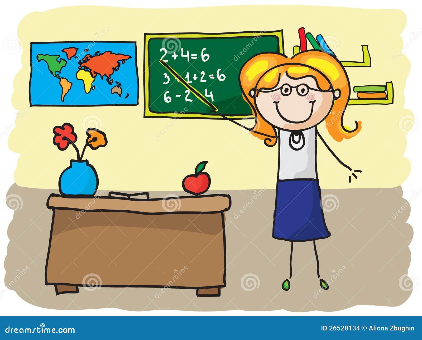 Clipart Decoration Classroom ~ Professeur illustration de vecteur image du retrait