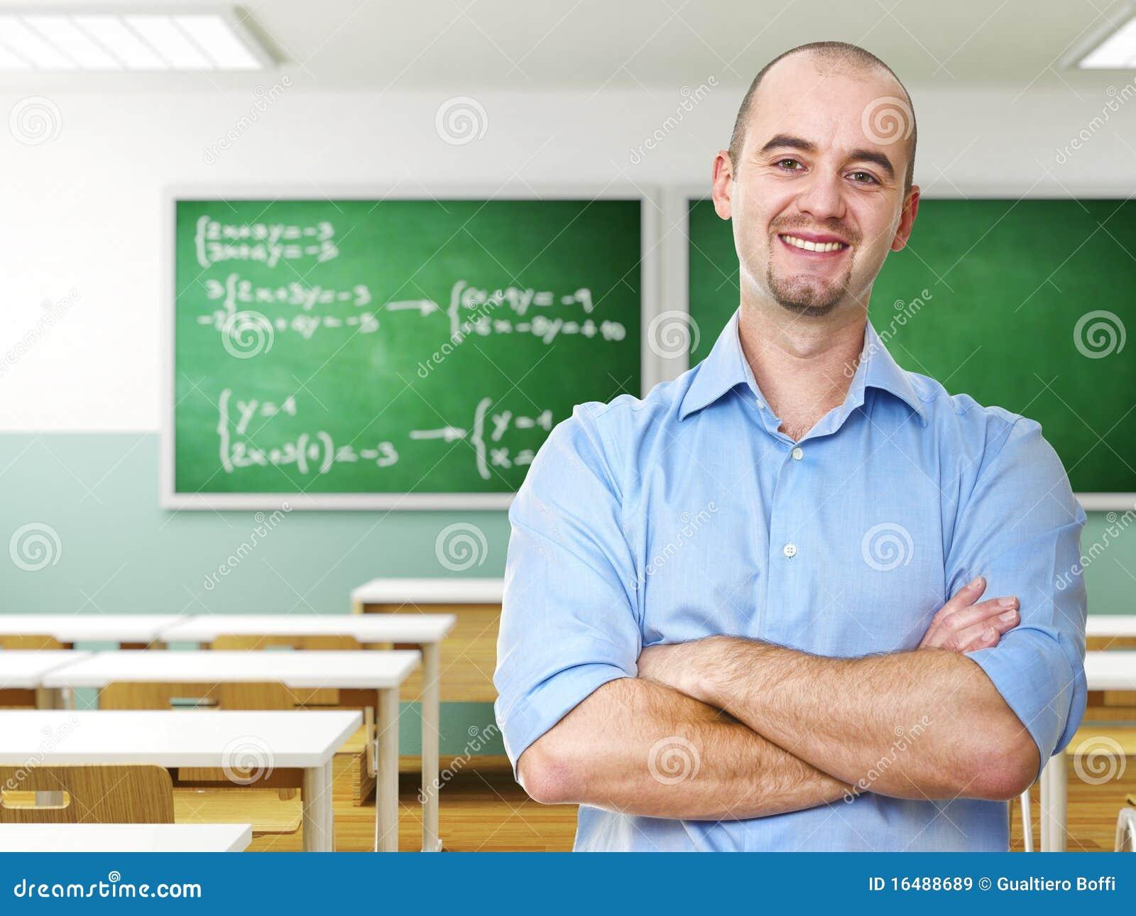 Professeur confiant