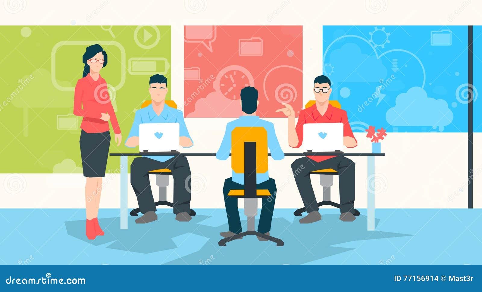 Professeur People Group Working de femme d affaires sur le professeur d Université Students d ordinateur portable