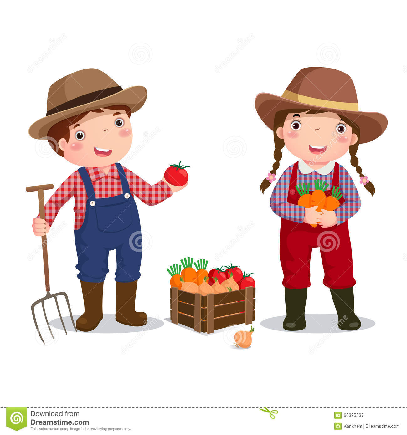 Profession Costume Of Farmer For Kids Stock Vector Illustration Of