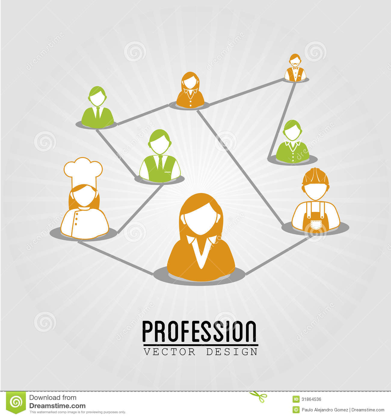 Profession design over blue background vector illustration
