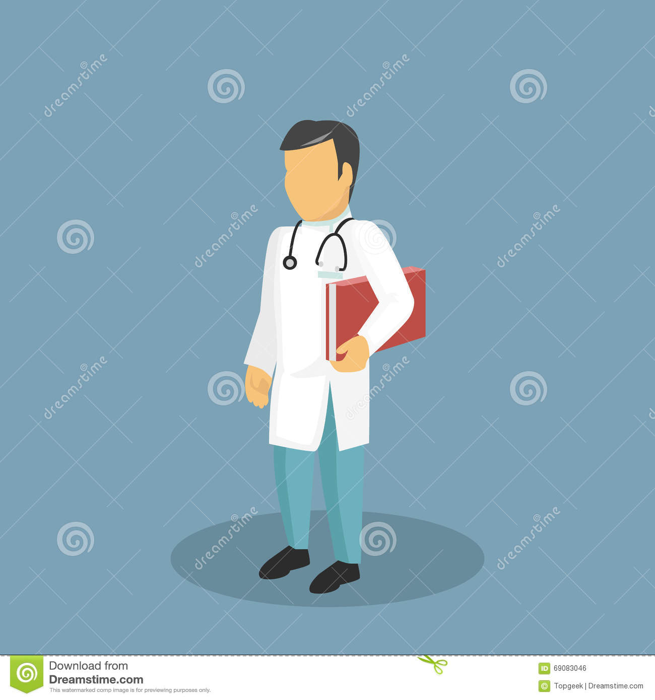 Profession Icon Doctor Design Flat Style Stock Vector ...