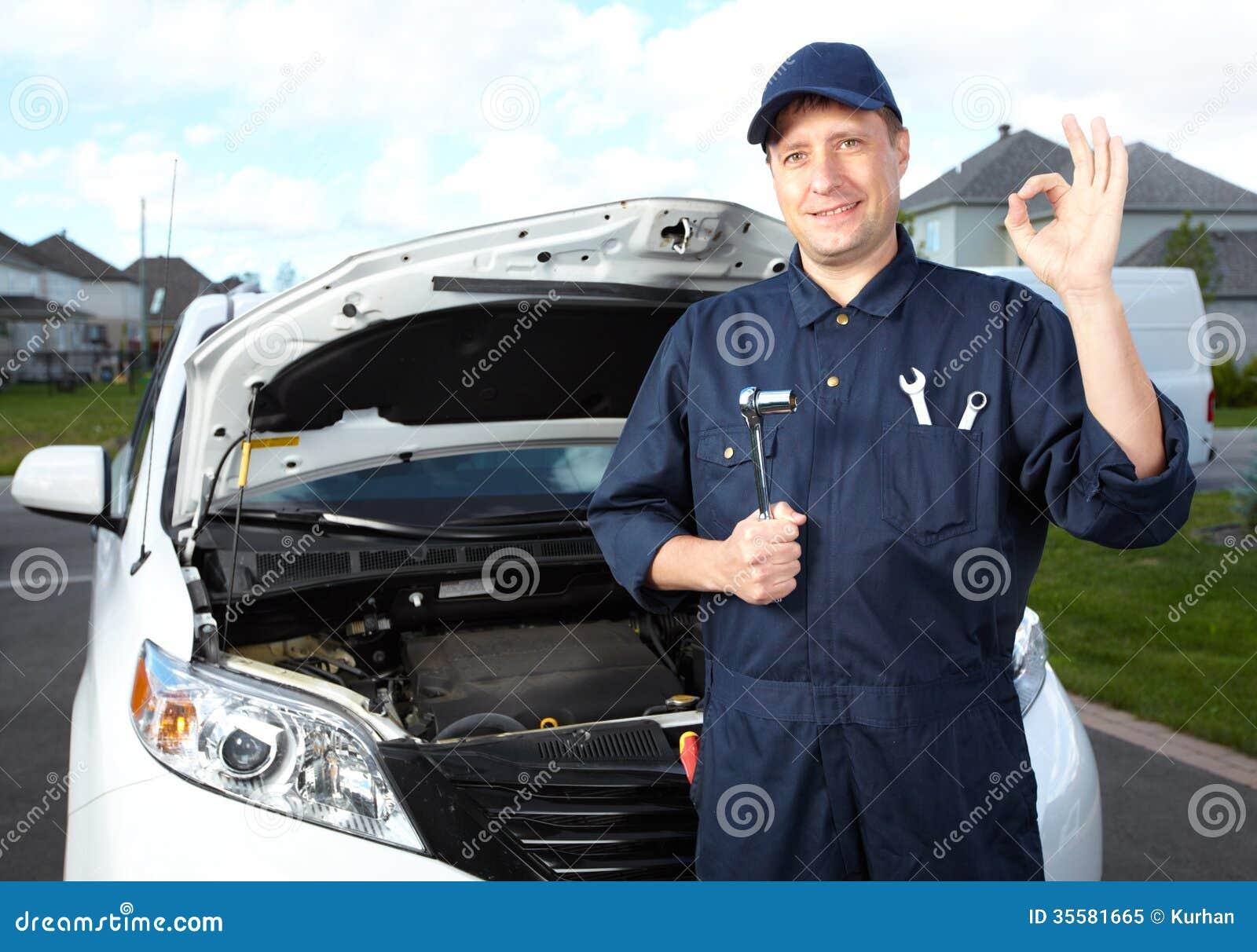 Professional Auto Mechanic. Stock Image - Image of person ...