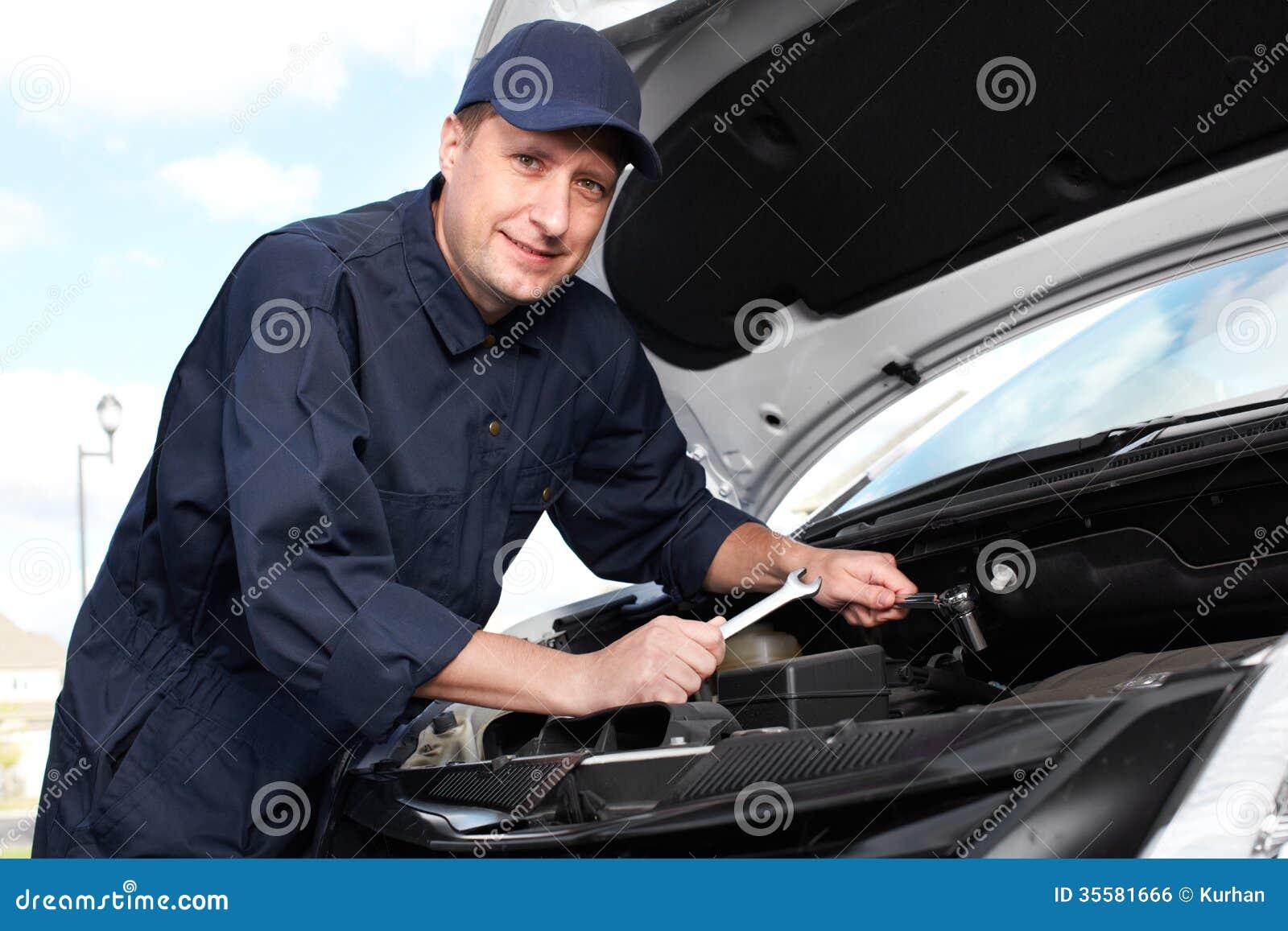 Professional Auto Mechanic. Stock Photo - Image of people ...