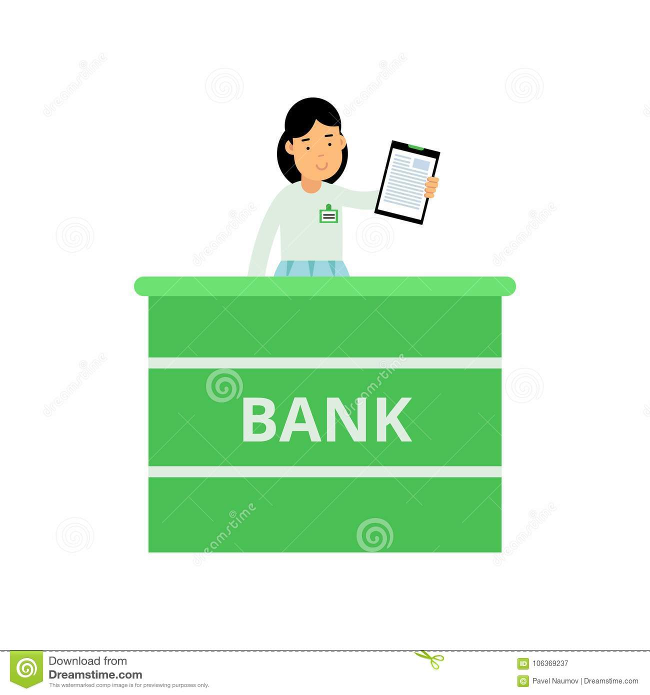 Professional Banking Worker Standing Behind Reception Desk ... on cartoon report form, cartoon registration form, cartoon filling out a form, cartoon admission form, italian application form, germany application form, pen and paper cartoon form, sports application form, cheerleader application form, mom application form, cartoon computer form, trademark application form, christmas application form, martial arts application form, drawing application form, german application form, cartoon job application, cartoon credit application, people cartoon form,