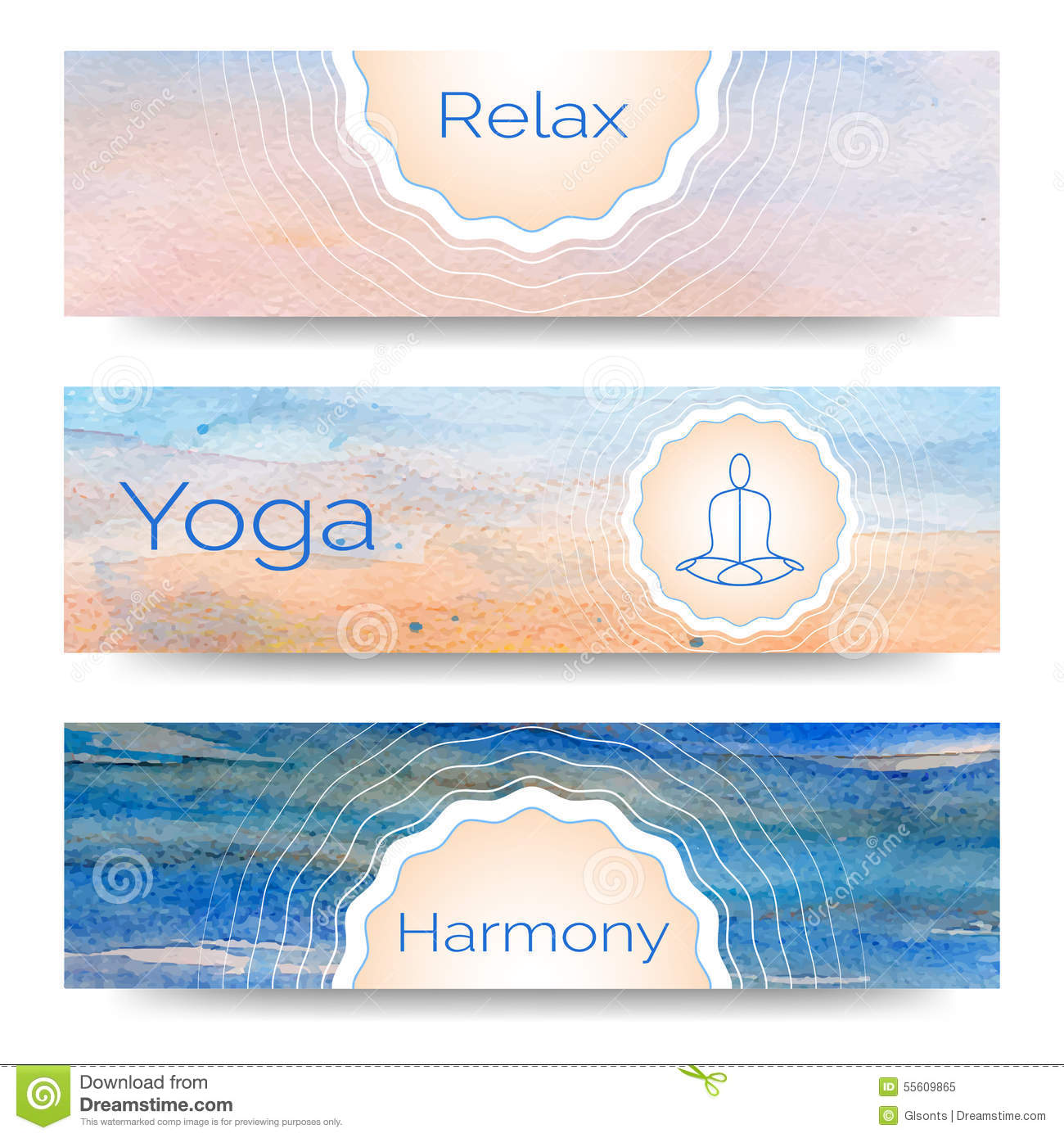 Professional Banner Templates Or Design For Yoga Studio