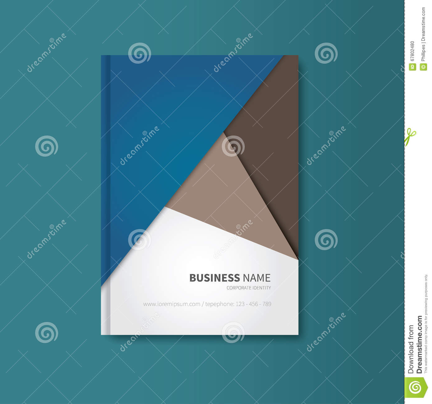 Material Design Book Cover ~ Professional book in material design stock vector image