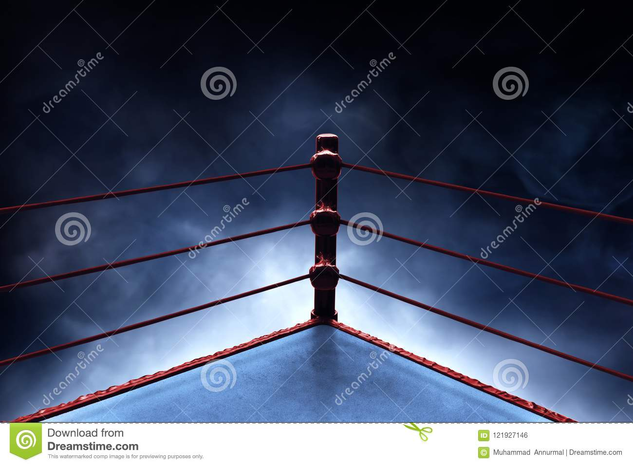 professional boxing ring on smoke backgrounds stock photo image of