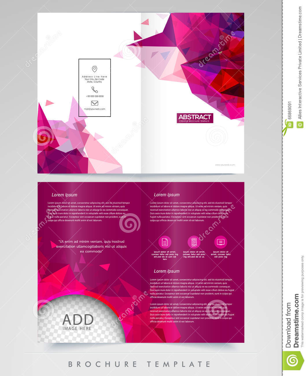 Professional Brochure Template Or Flyer Design Stock Image - Professional brochure templates free
