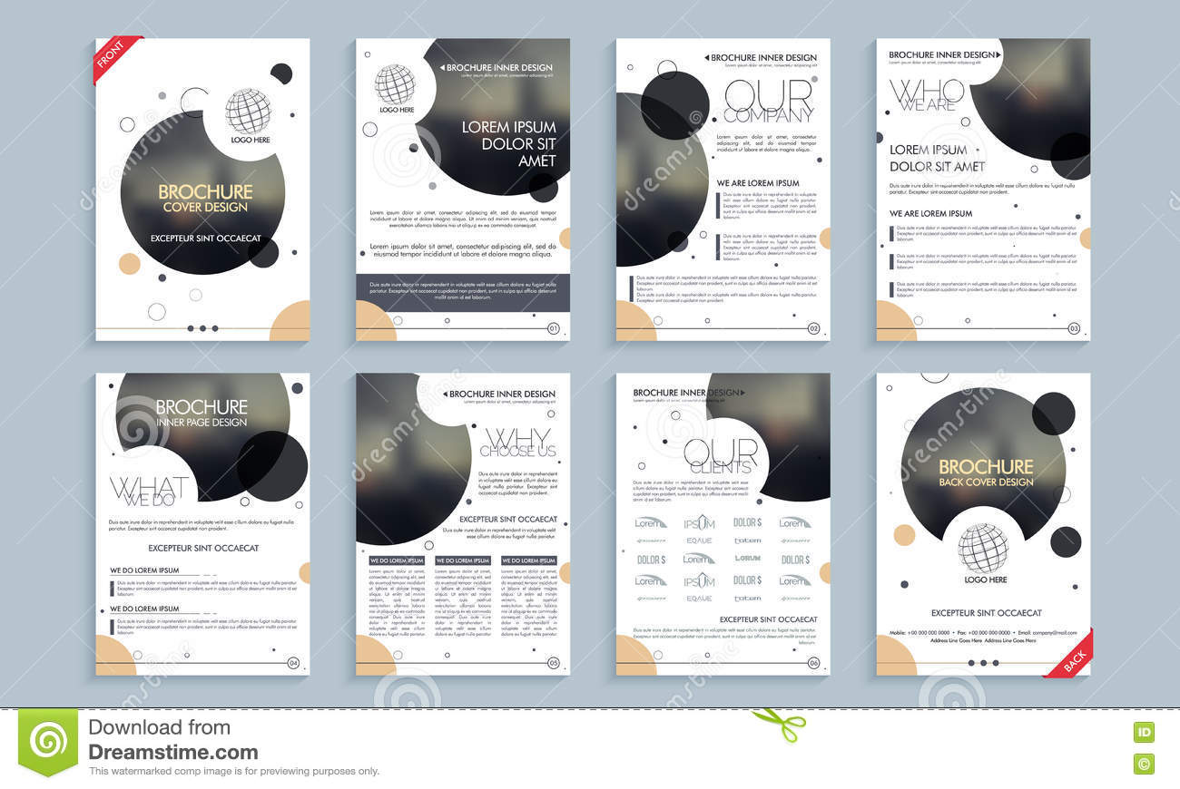 professional brochure template or flyer layout stock illustration