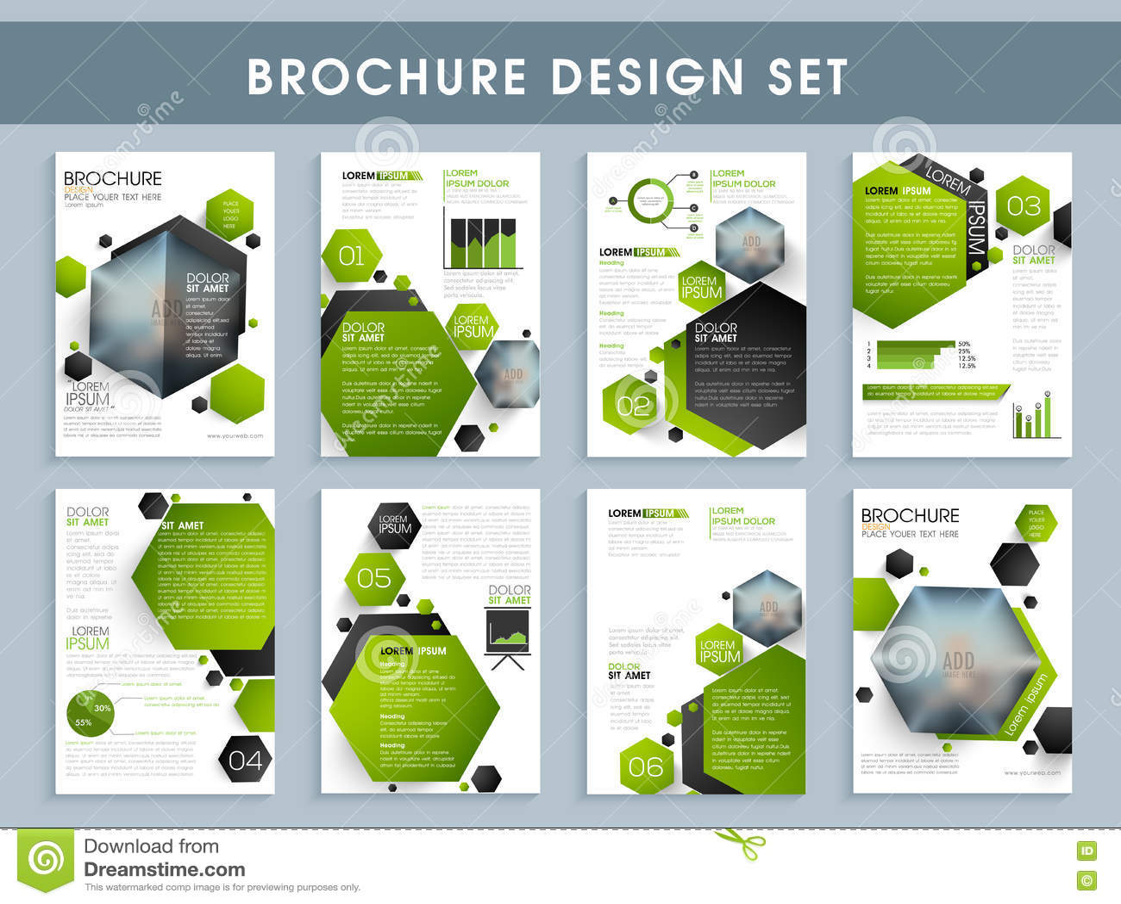 professional brochure template or flyer presentation stock