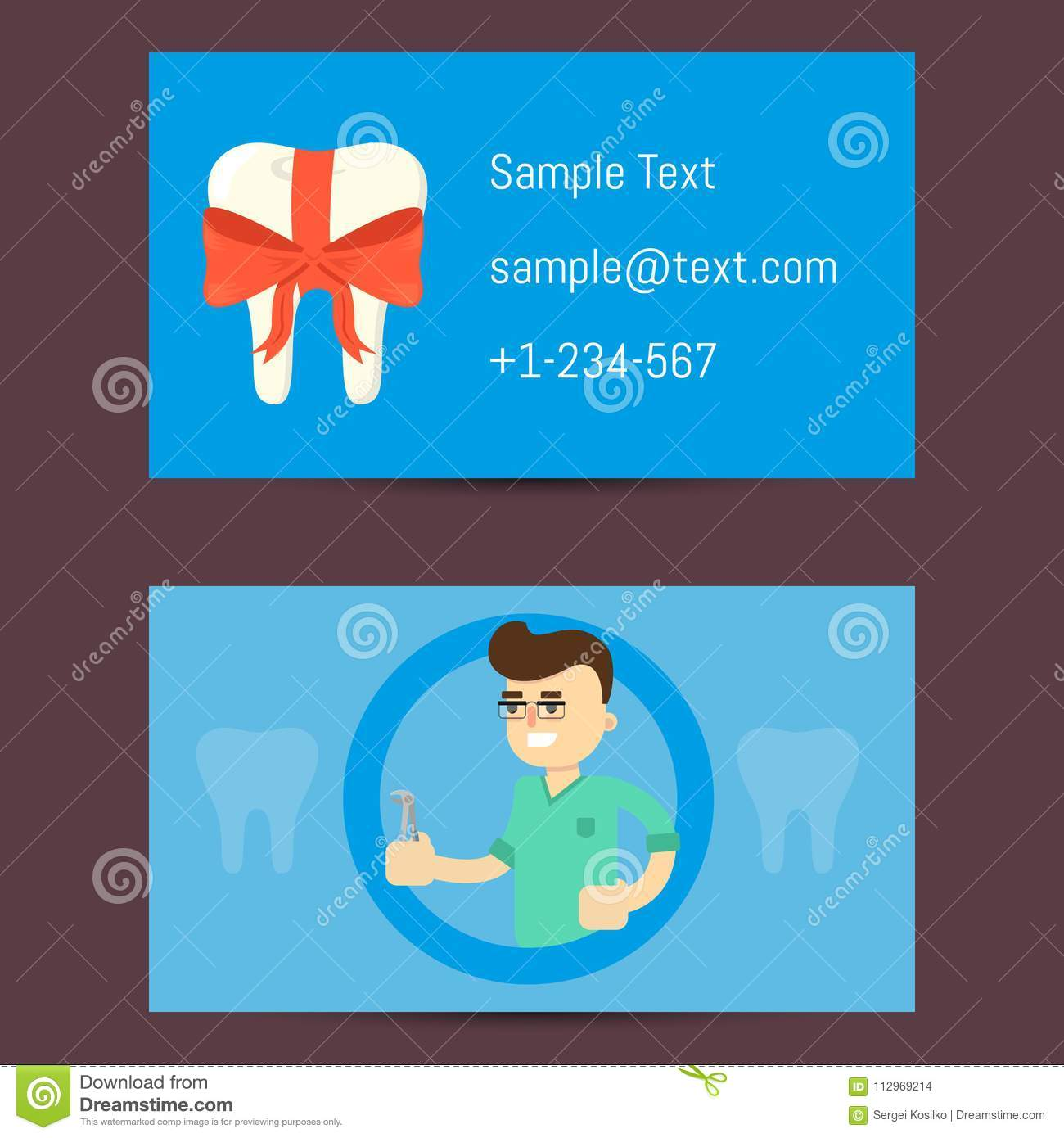 Professional business card for dentists stock illustration download comp reheart Image collections
