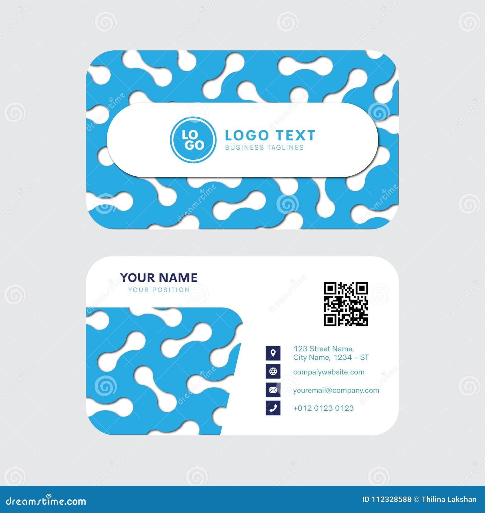 professional business card vector design invitation card template