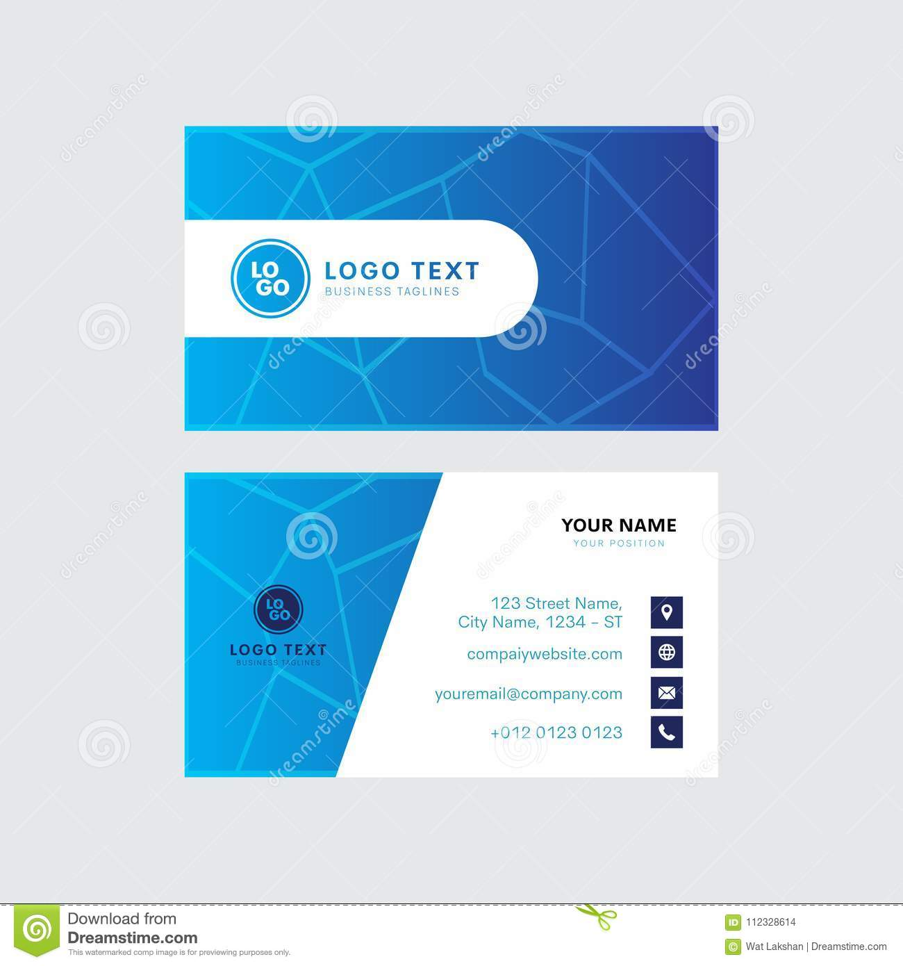 Professional Business Card Vector Design Invitation Card Template