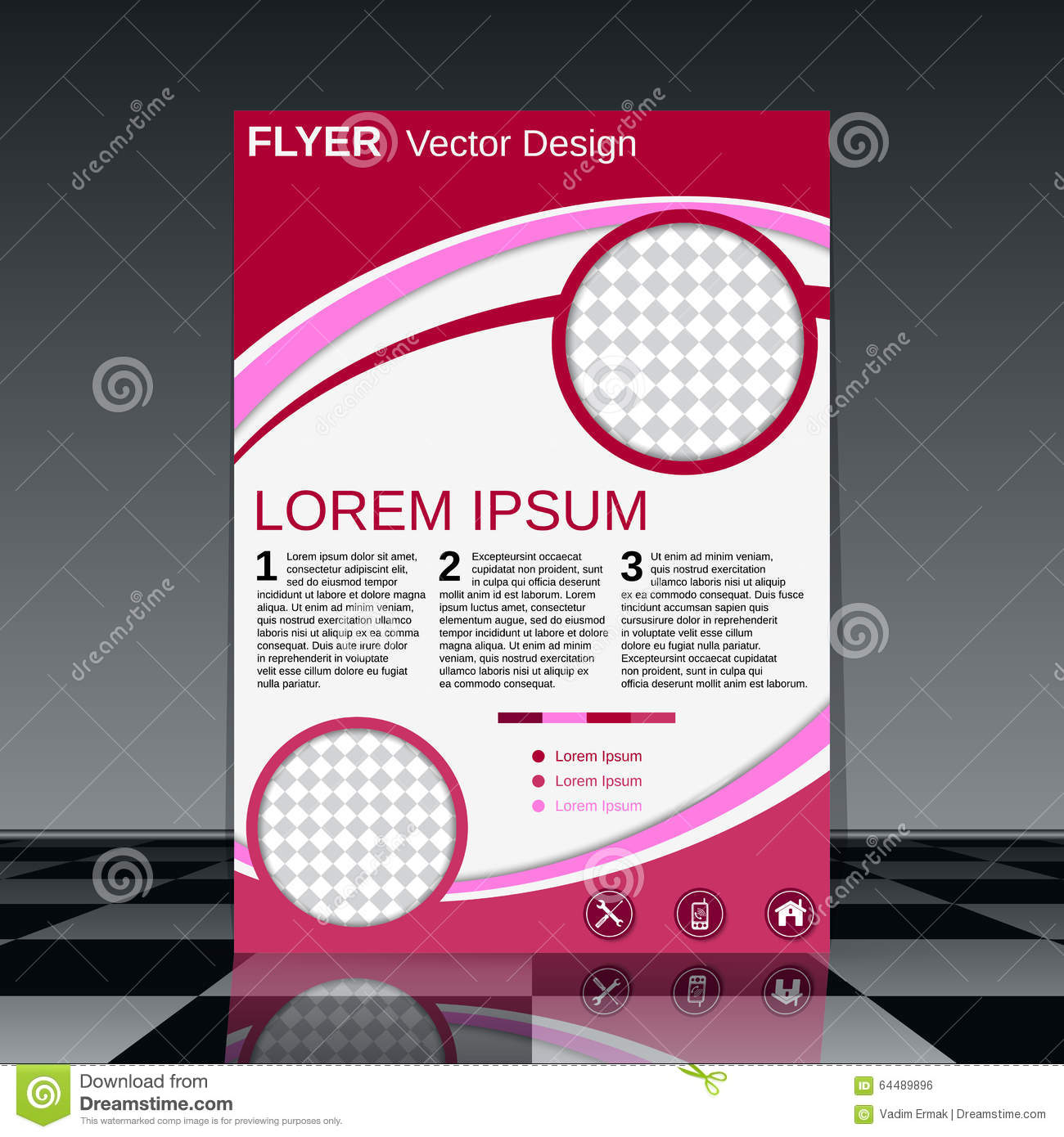 professional business flyer template stock vector