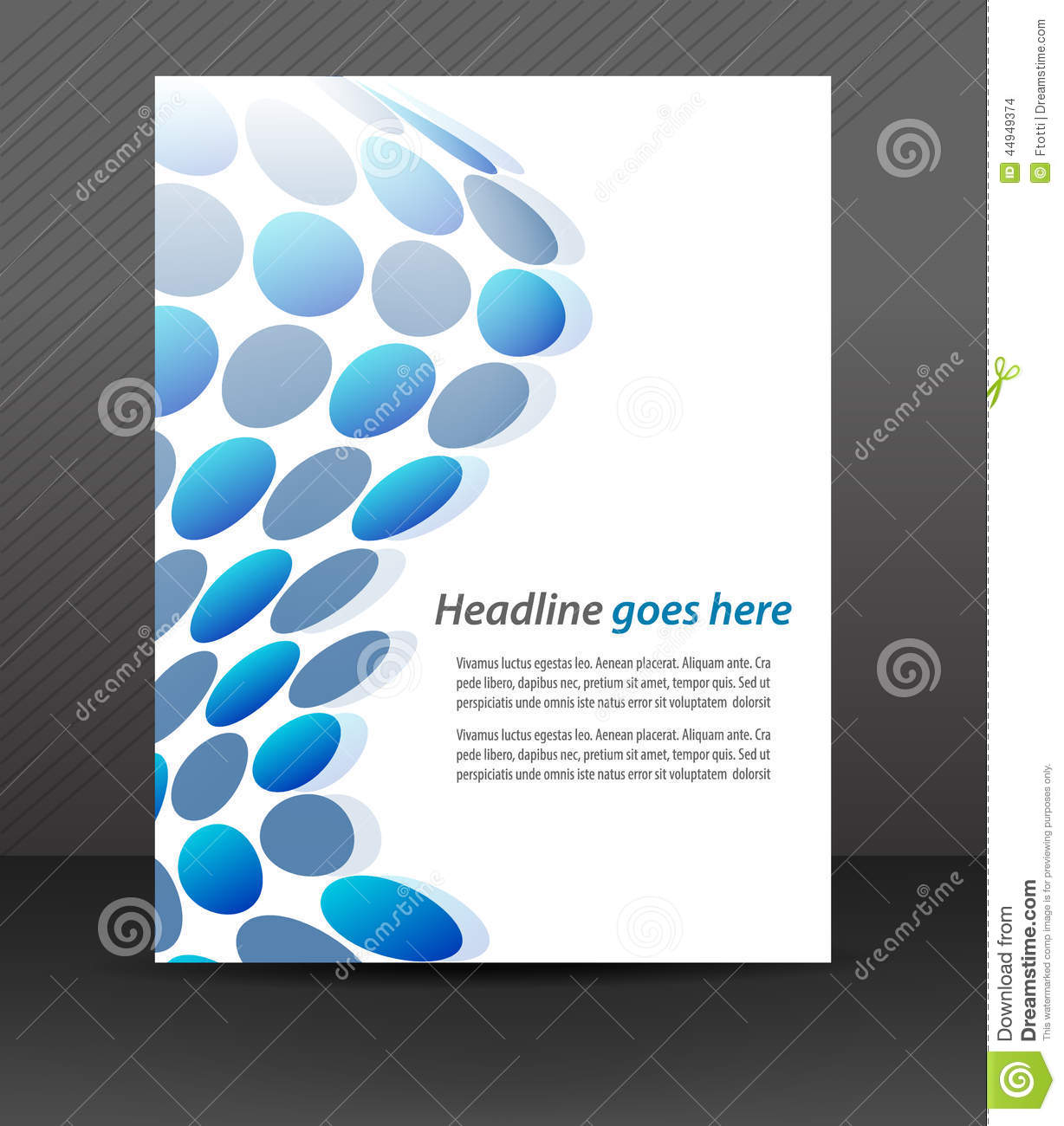 professional business flyer template or corporate banner cover