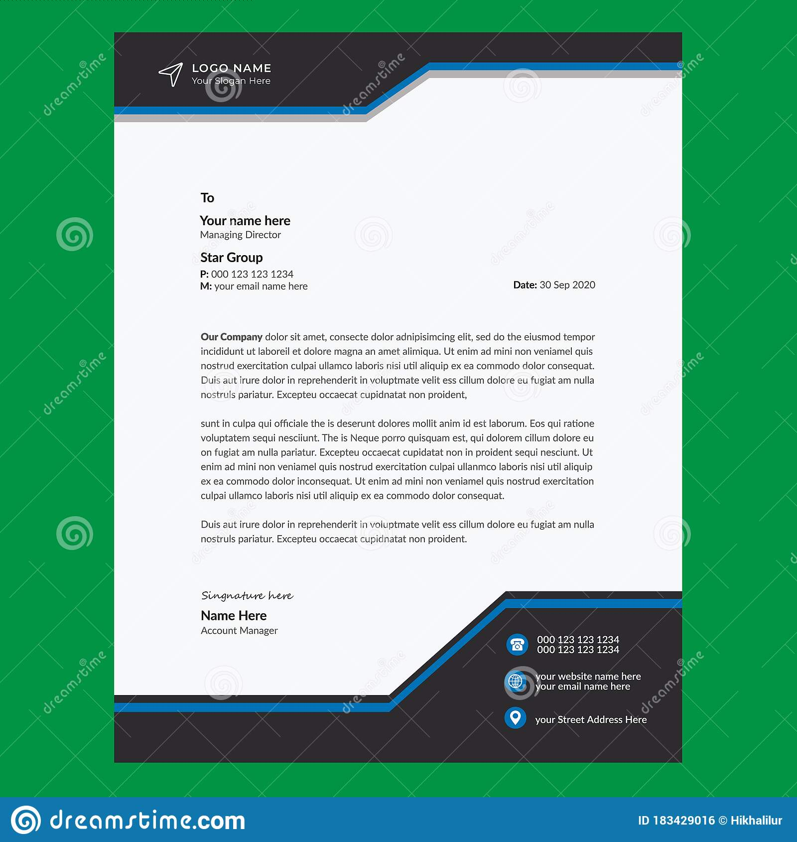 Template For Professional Letter from thumbs.dreamstime.com