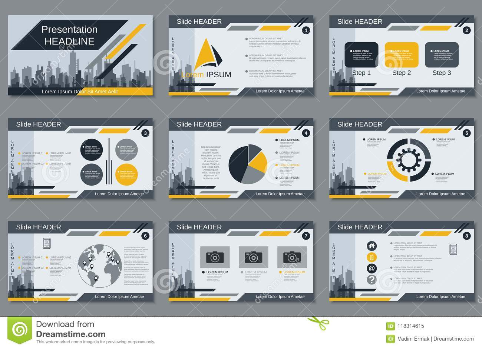 Professional business presentation slide show vector template stock professional business presentation slide show vector template accmission Choice Image