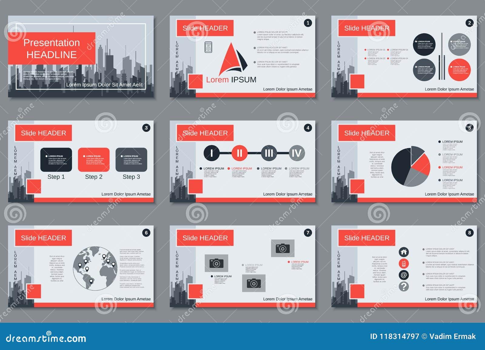 professional business presentation, slide show vector template stock