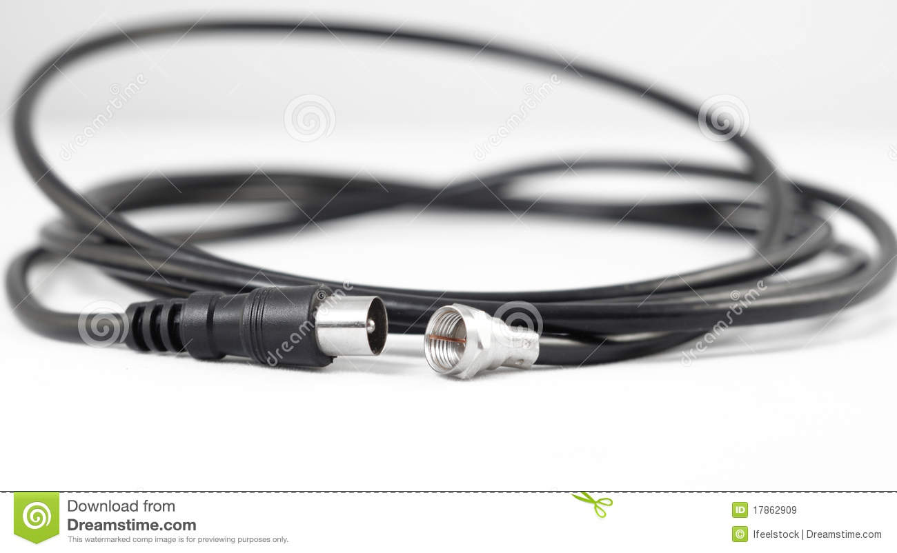 Professional Cable Tv Connectors Stock Image - Image of computer