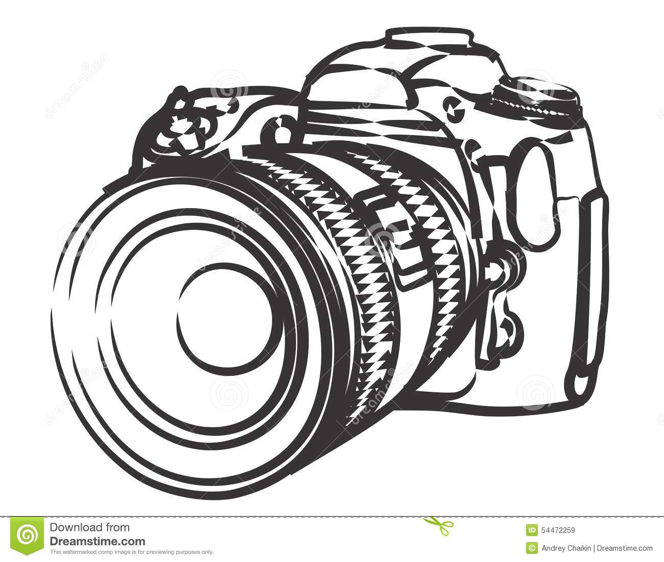 Professional Camera Stock Vector Image 54472259