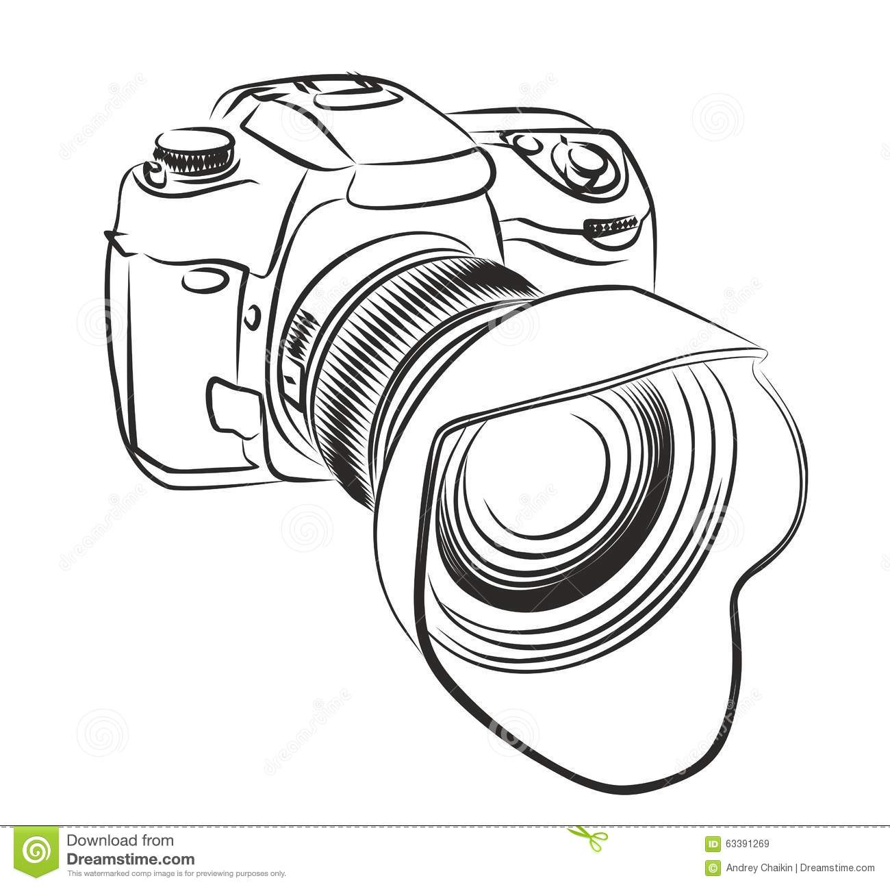 Professional Camera Stock Vector Illustration Of