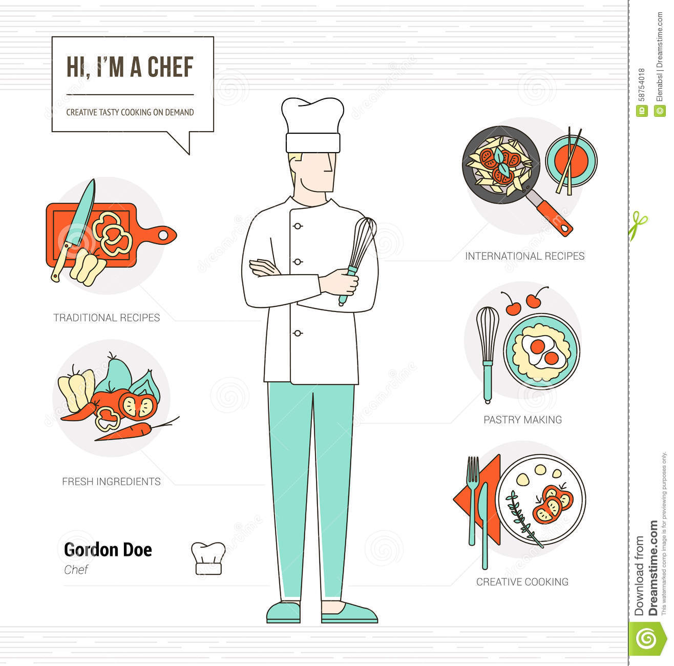 professional chef stock vector image  professional chef