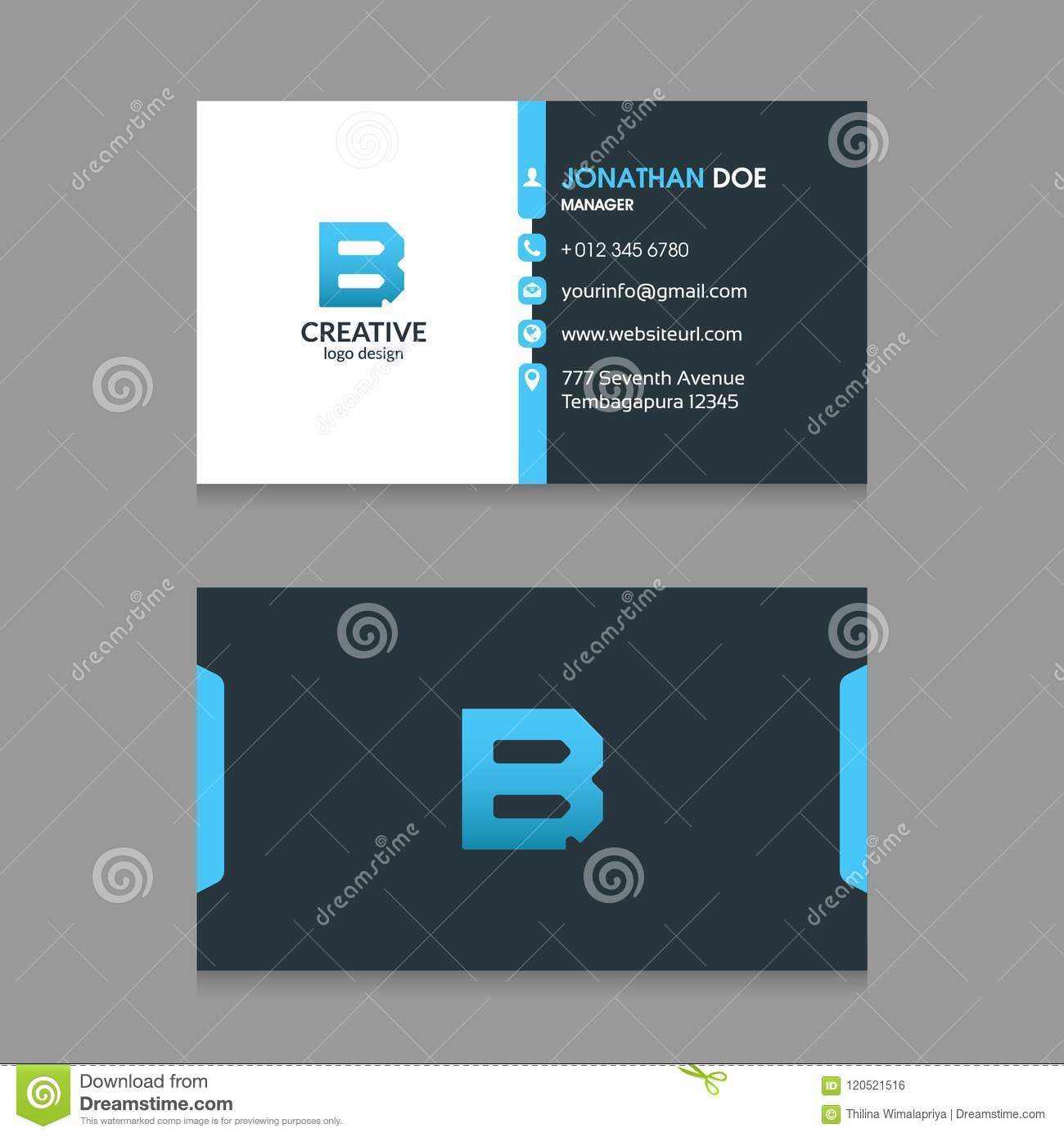 B abstract letter logo with modern corporate business card design b abstract letter logo with modern corporate business card design template vector colourmoves