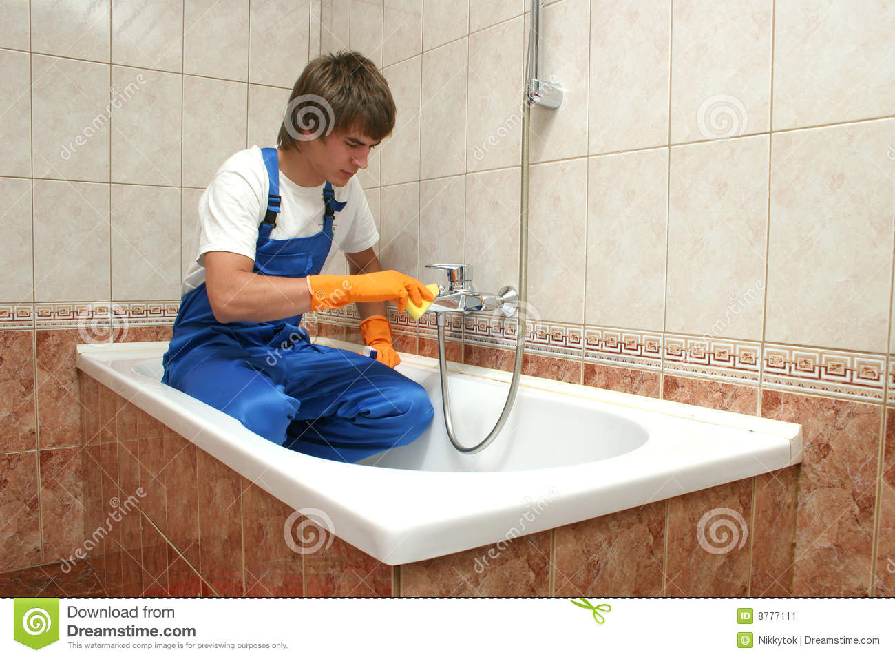 Professional cleaning stock image image 8777111 - How to professionally clean a bathroom ...