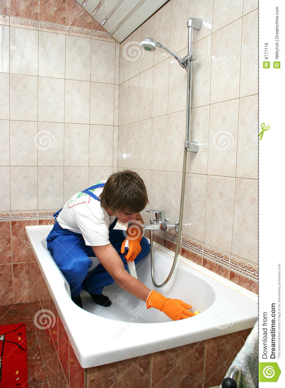 Professional cleaning royalty free stock image image - How to professionally clean a bathroom ...