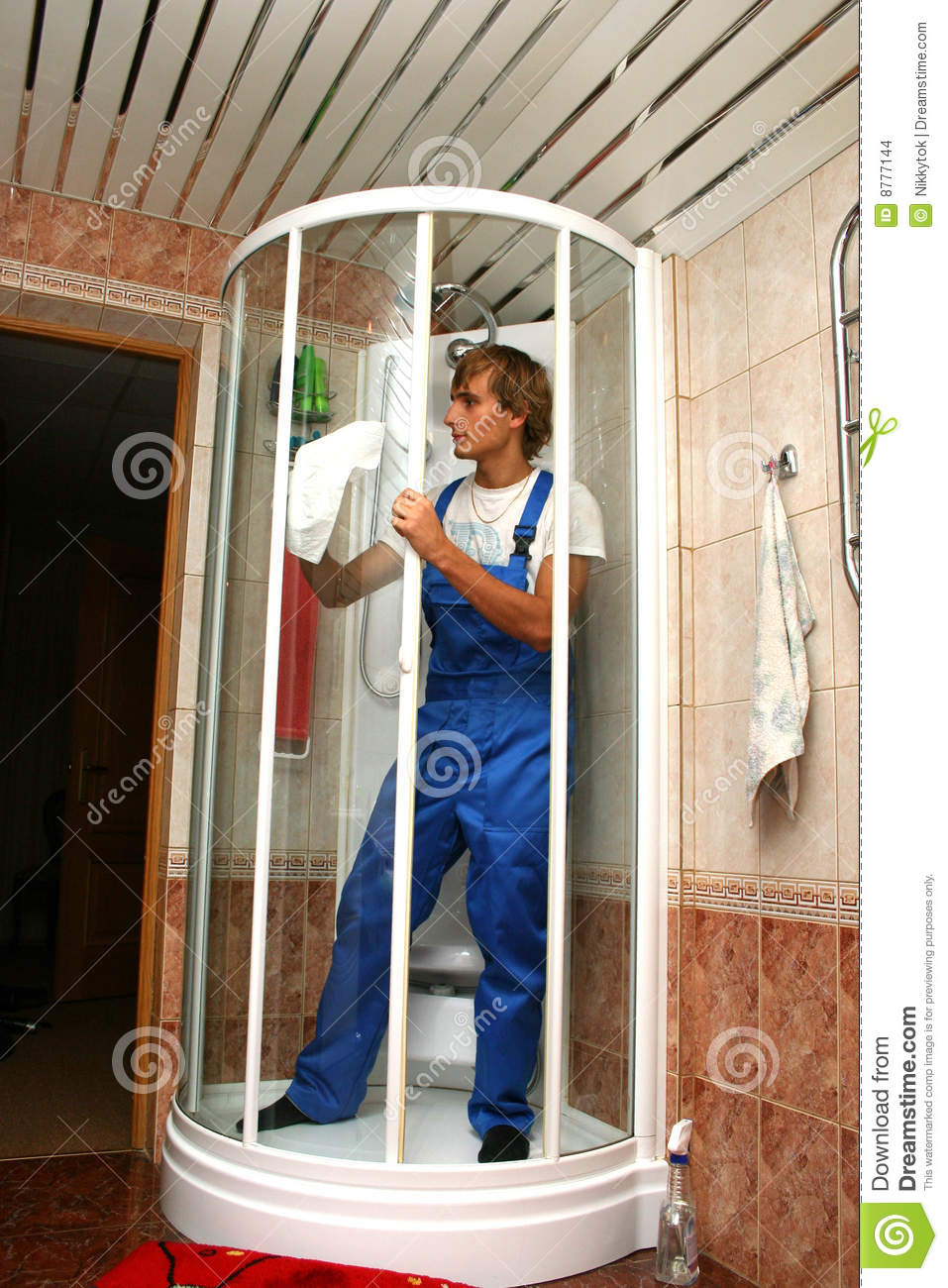Professional cleaning stock images image 8777144 for How to professionally clean a bathroom