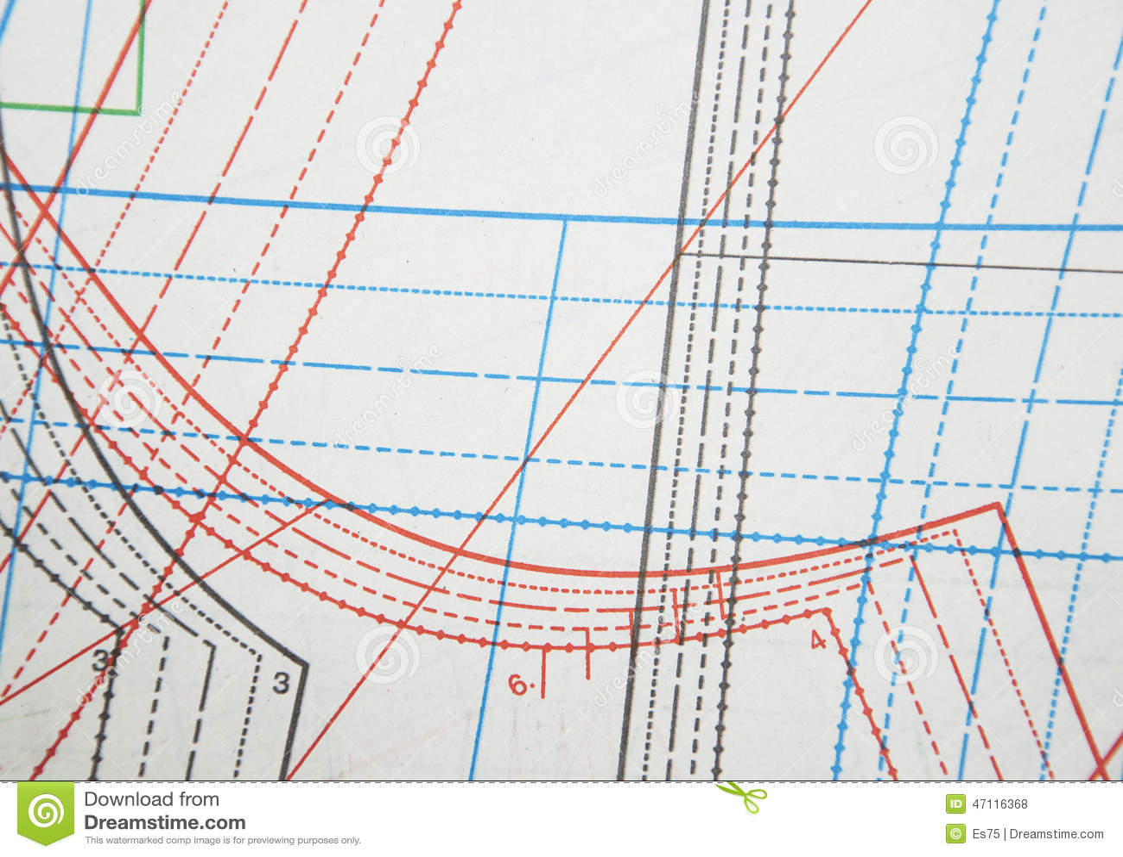 Professional Clothing Patterns Stock Photo Image Of Needlecraft Dotted 47116368