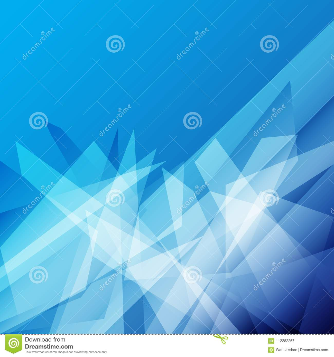 Professional Colorful Blue Color Abstract Geometric