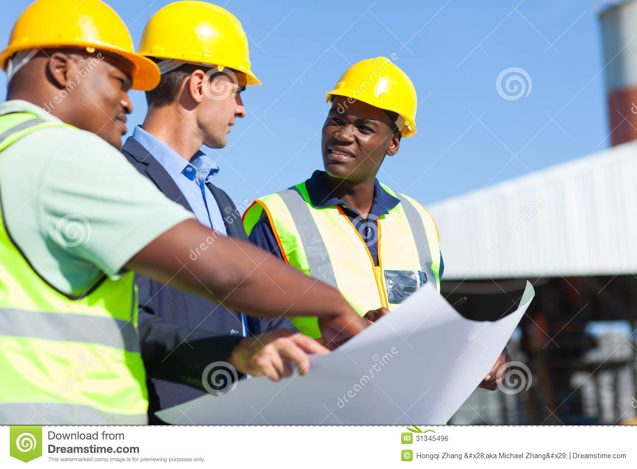 Professional construction workers royalty free stock image for Construction architect