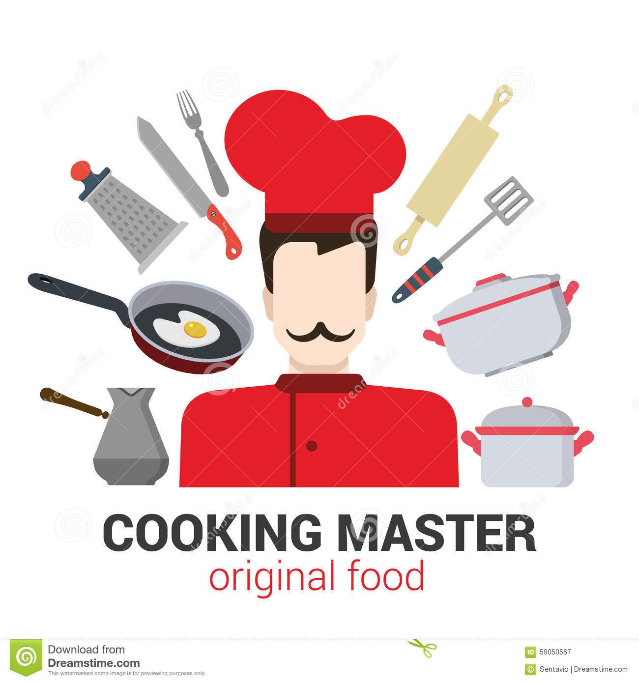 Professional Cook Chef Vector Icon Restaurant Cooking