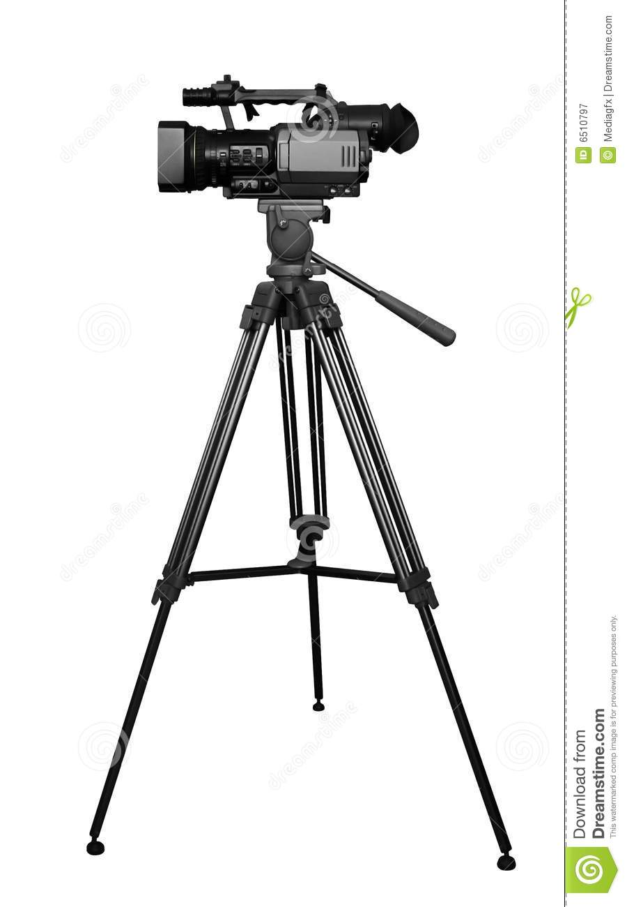 Professional Digital Camera On Tripod Royalty Free Stock