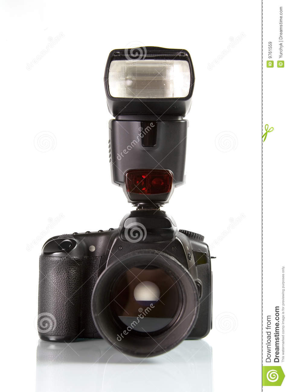 Professional digital photo camera front view