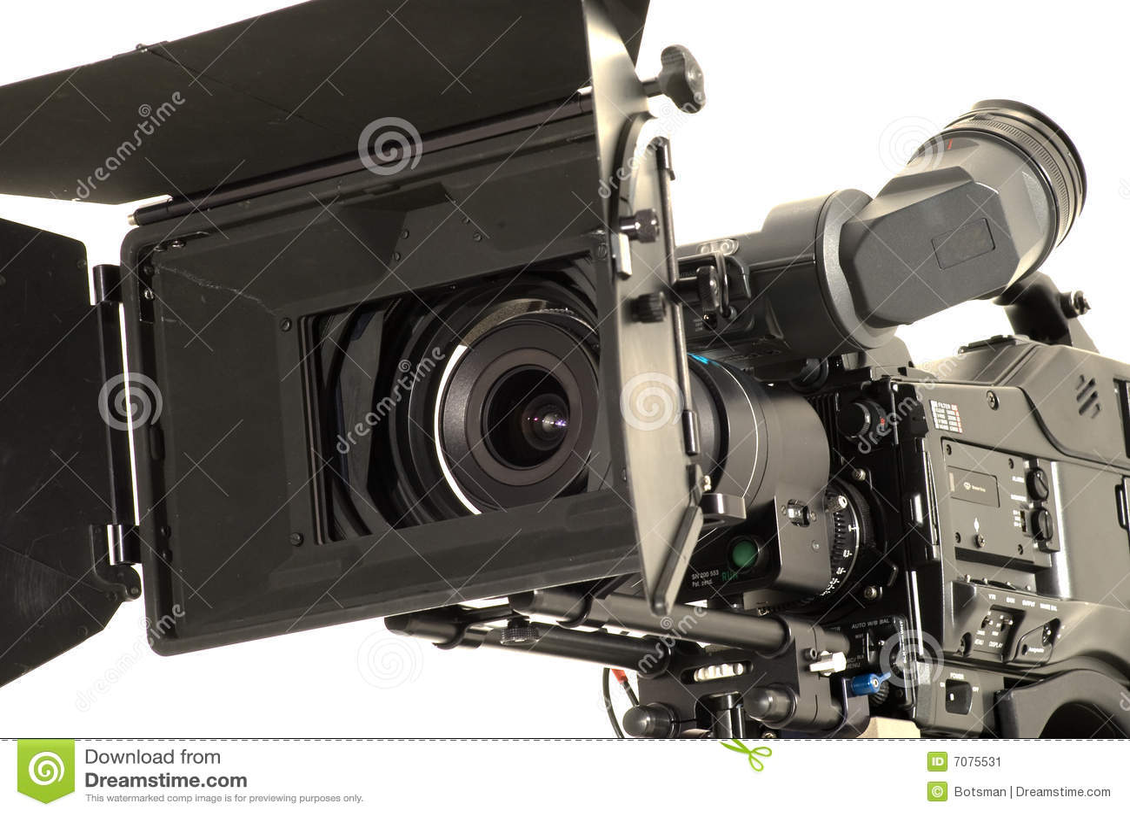 Professional Digital Video Camera. Stock Image - Image ...