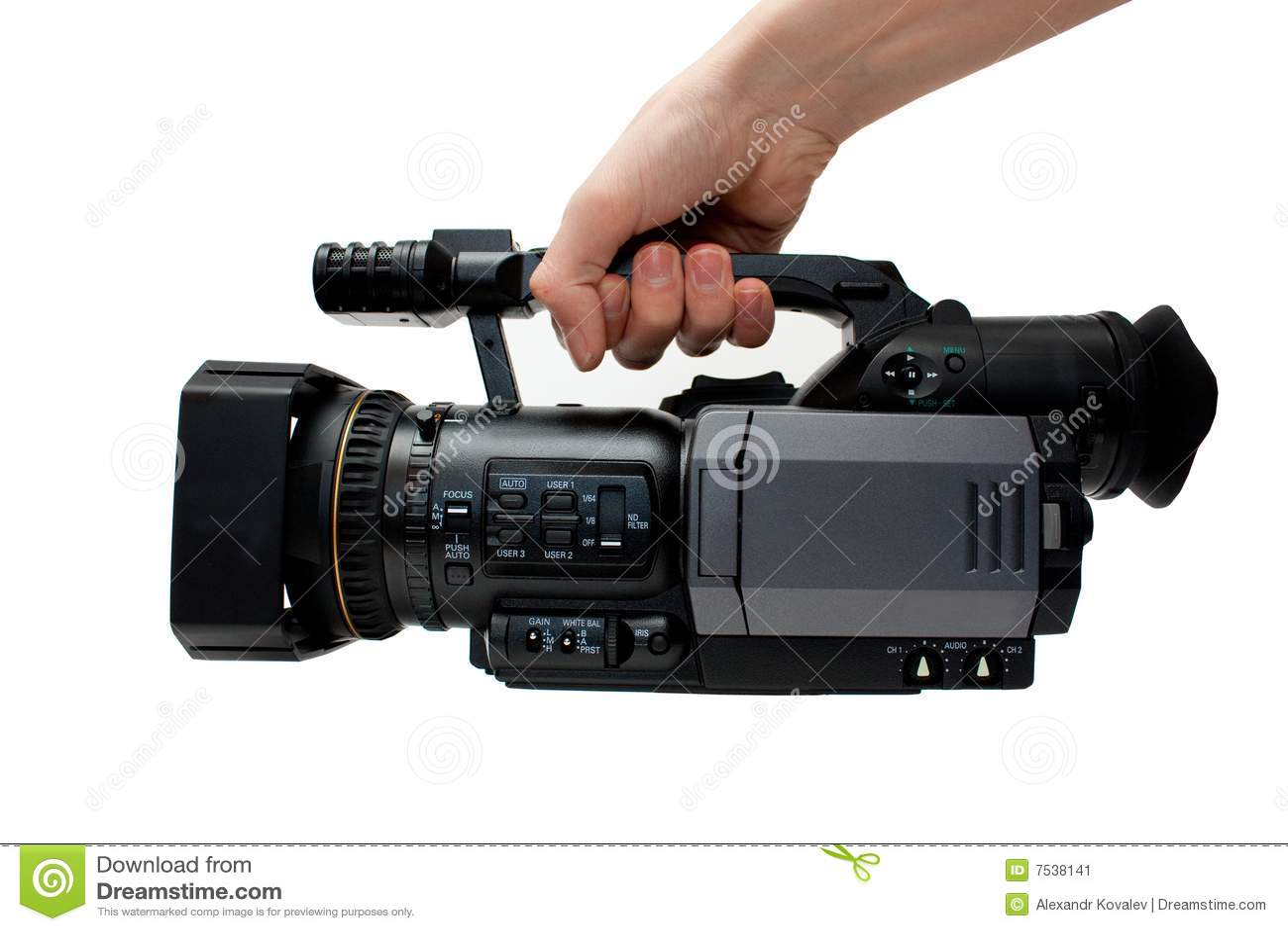 Professional Digital Video Camera Stock Image - Image: 7538141