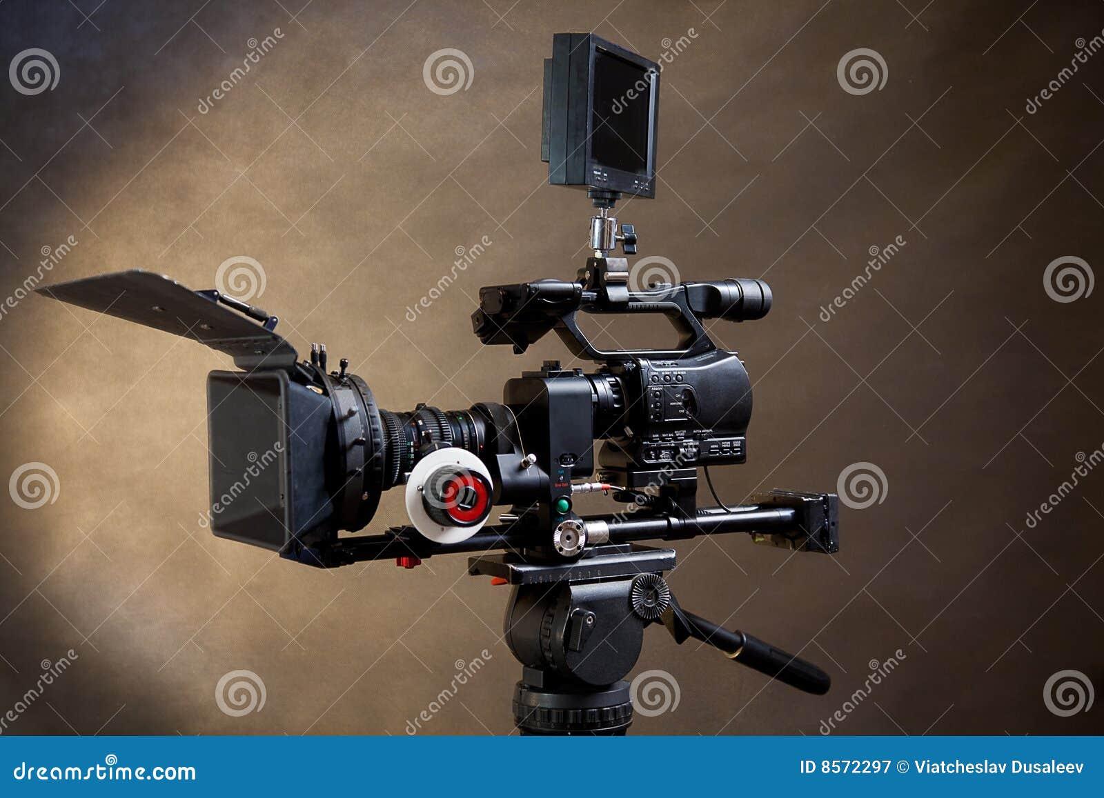 Professional Digital Video Camera. Stock Image - Image of ...