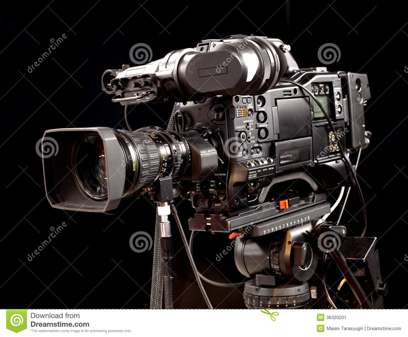 Professional Digital Video Camera Stock Image - Image: 36320201