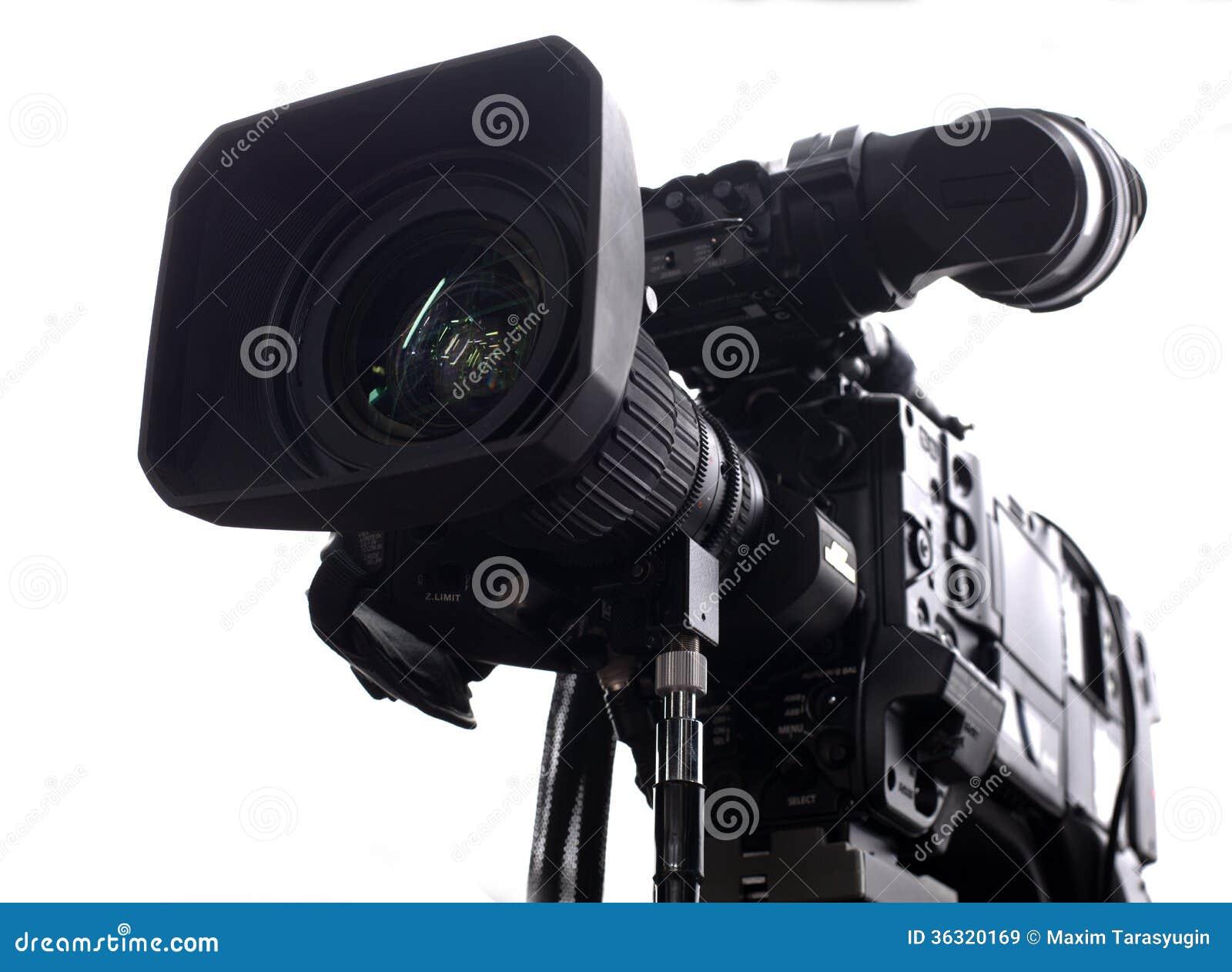 Professional Digital Video Camera Stock Image