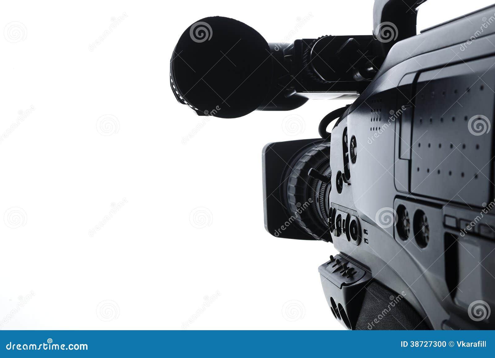 Professional Digital Video Camera Stock Photo - Image ...