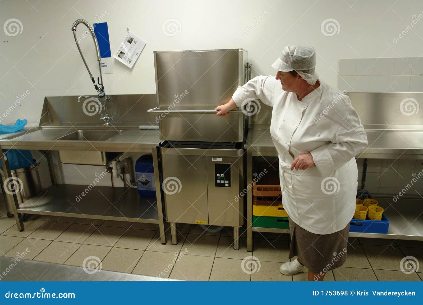 Professional Dishwashing Line Stock Photo Image Of Cook