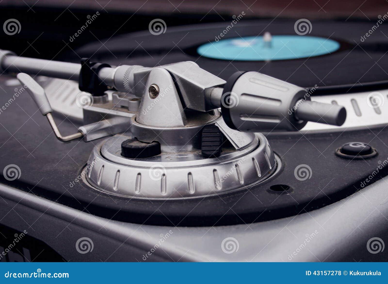 professional dj turntable set stock photo image of musical player 43157278. Black Bedroom Furniture Sets. Home Design Ideas