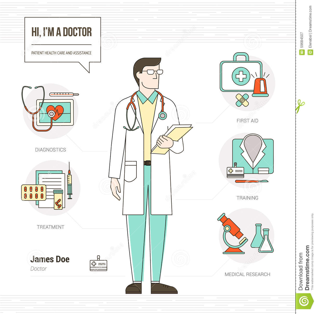 professional doctor stock vector image 59684507