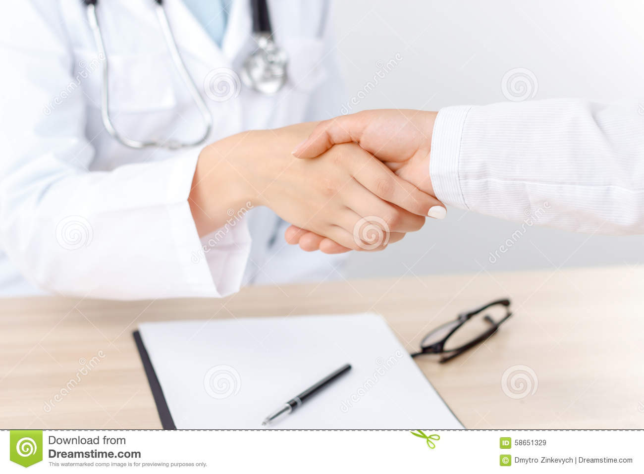 Professional Doctor Shaking Hands Stock Image Image Of Care