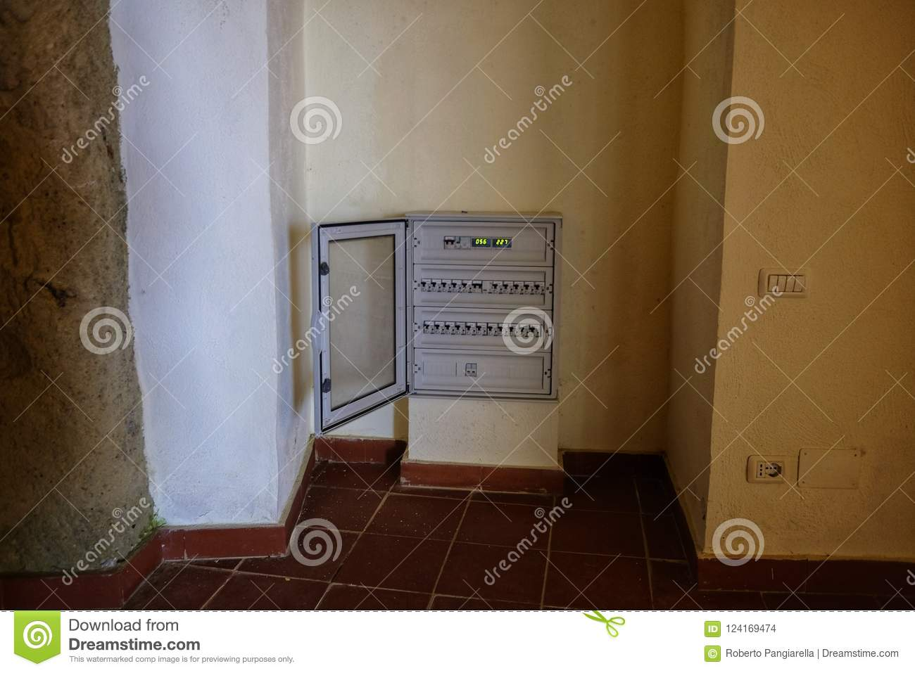 Professional Electrical Panel Open Stock Photo - Image of ... on